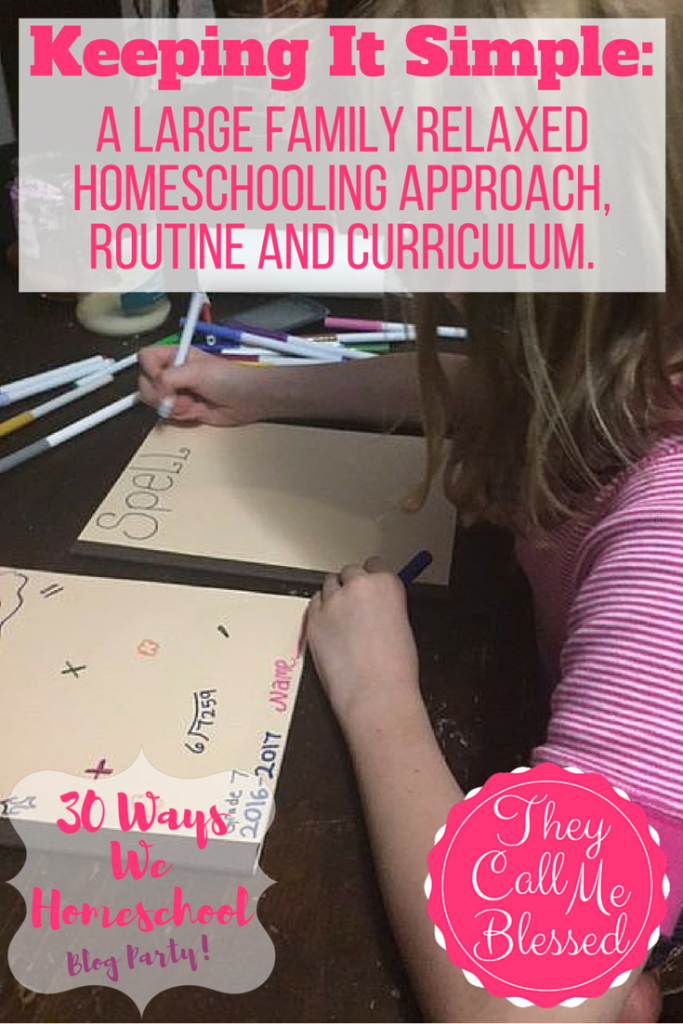 #9 of Top 10 Homeschool Posts in 2016: A Large Family Relaxed Homeschool
