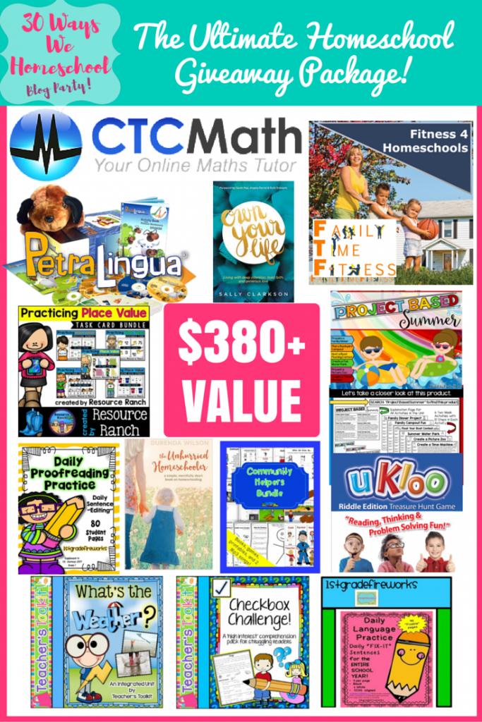 The ultimate homeschool giveaway