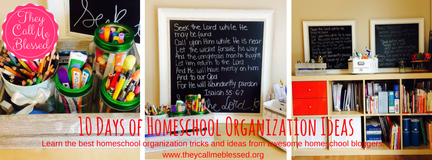 Are you looking for homeschool organization ideas, tips and resources? Look no further! Organize Your Homeschool in 20sh Days | Homeschool organization | organization challenge | organize your homeschool