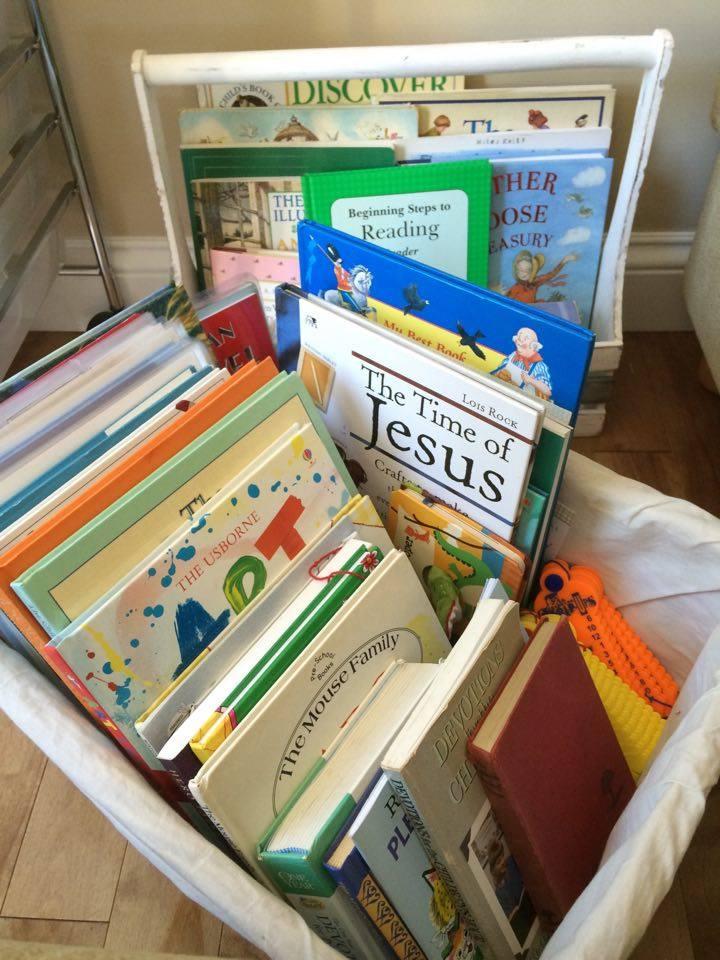 Homeschool Organization: Baskets
