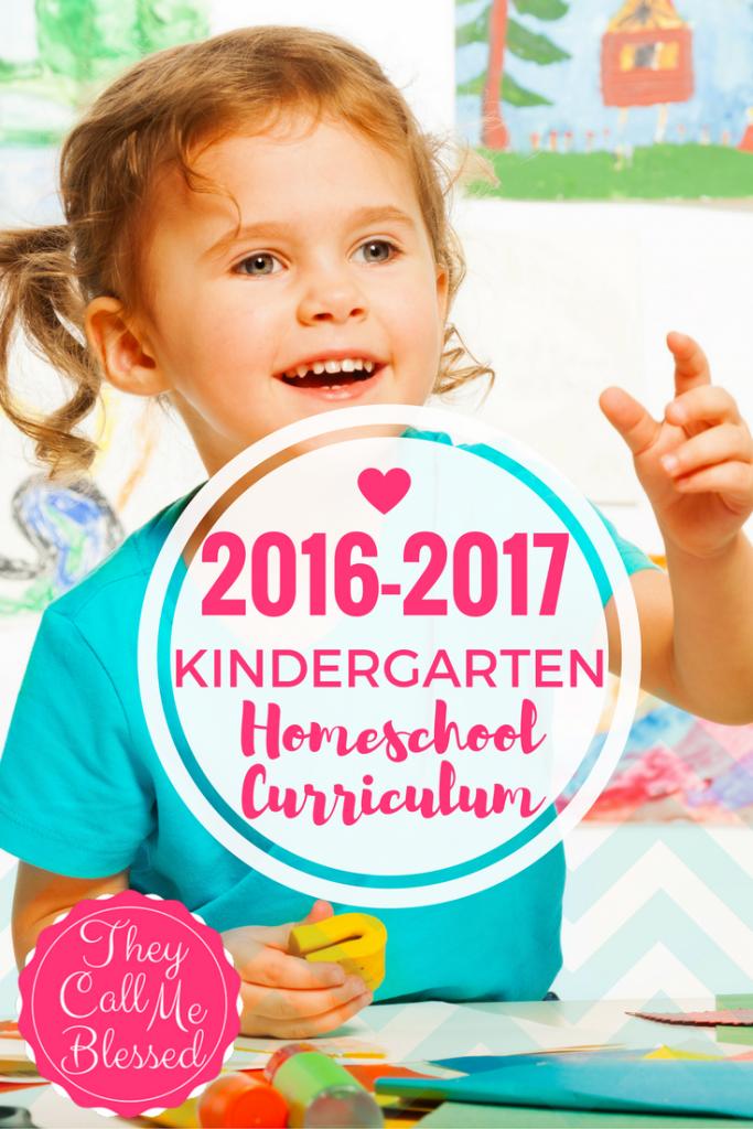 #6 of Top 10 Homeschool Posts in 2016: Kindergarten Homeschool Curriculum