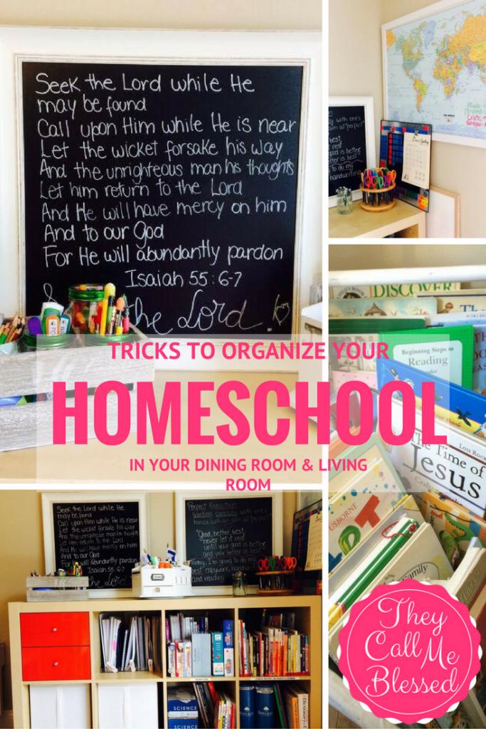 #2 Top Homeschool Post in 2016 - 7 Tricks To Organize Your Homeschool in Your Dinning Room