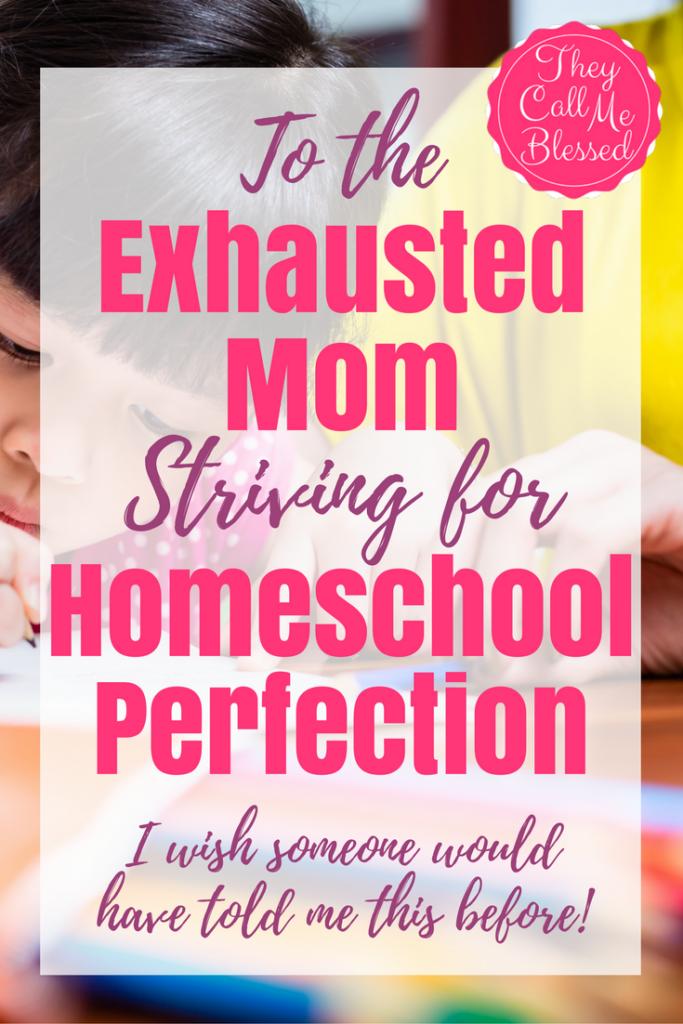 Homeschool perfection