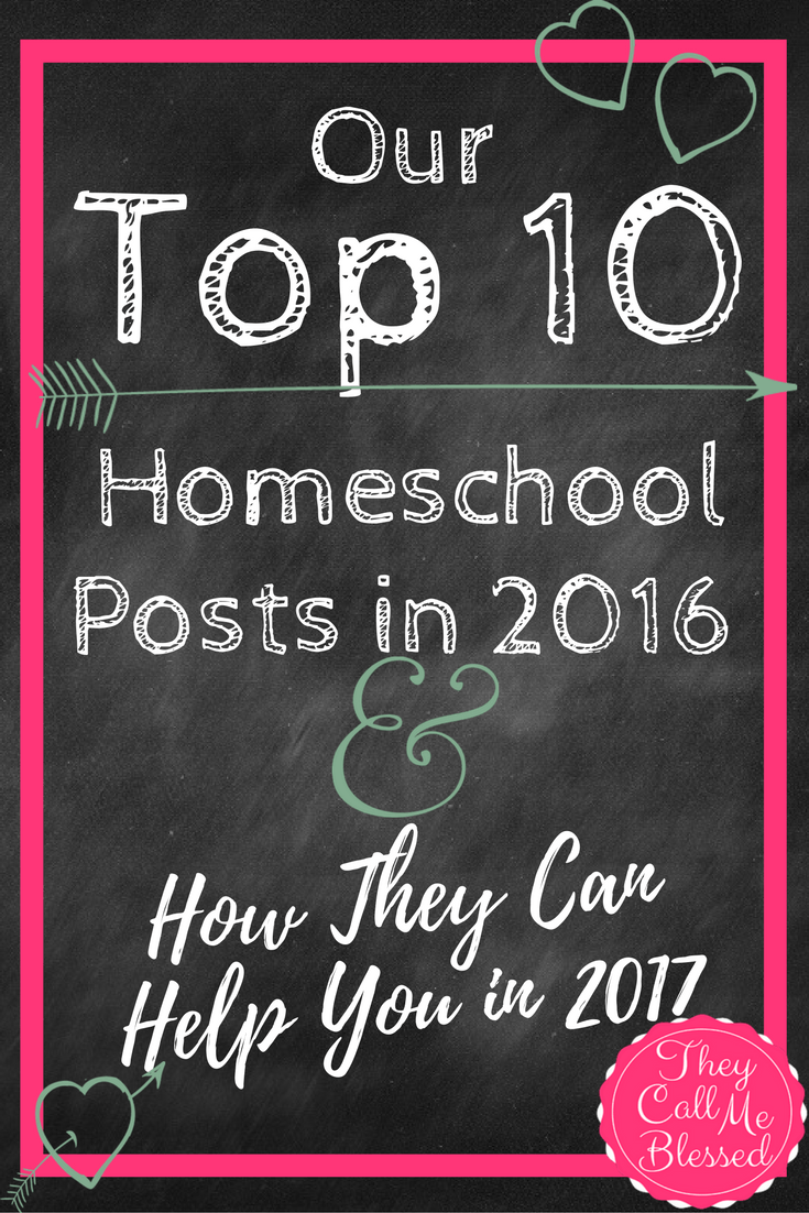 Our Top 10 Homeschool Posts in 2016