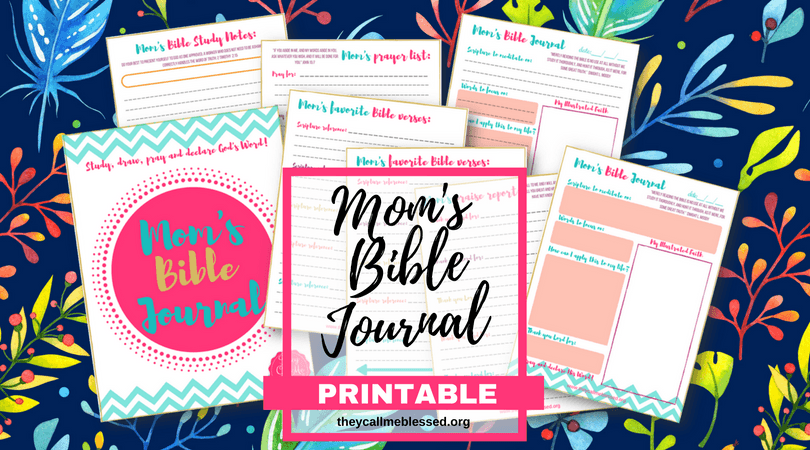 """Did you know we have a beautiful printable Mom's Bible Journal at They Call Me Blessed store? I created this printable to help me and other moms to spend more time with God in the midst of our busy life. This is what one mom has to say about this printable: """"Thank you so much! I absolutely love these journal pages! I have been wanting more than just a regular notebook for my daily devotionals and have tried to sit down and make my own but never have time! I came across this somehow and absolutely LOVE LOVE LOVE them! Thank you!"""" -Ashlee 