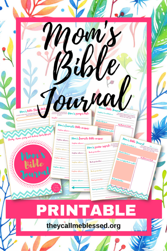 """Did you know we have a beautiful printable Mom's Bible Journal at They Call Me Blessed store? I created this printable to help me and other moms to spend more time with God in the midst of our busy life. This is what one mom has to say about this printable: """"Thank you so much! I absolutely love these journal pages! I have been wanting more than just a regular notebook for my daily devotionals and have tried to sit down and make my own but never have time! I came across this somehow and absolutely LOVE LOVE LOVE them! Thank you!"""" -Ashlee"""