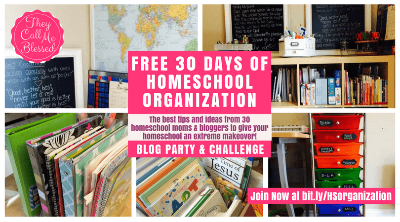 FREE Homeschool Organization Challenge | 30 Days of Homeschool Organization | How to Organize Your Homeschool | Organizer Your Homeschool Space | Organize Your Homeschool Room | Homeschool Organization Ideas | Tips to organize your homeschool in your dinning room without making it look like a classroom.