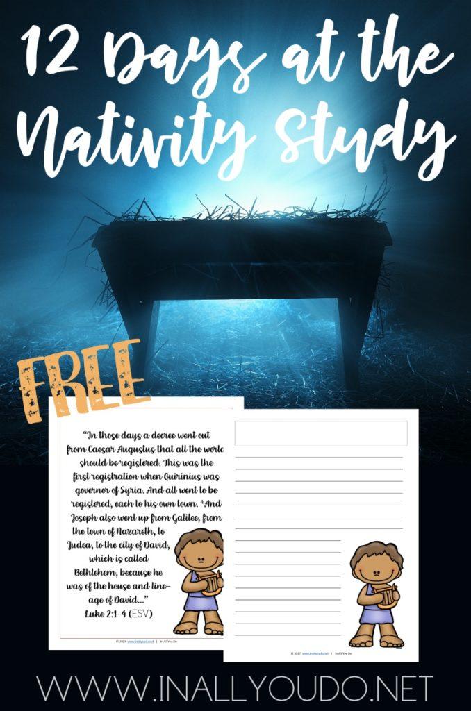 Free 12 Days Nativity Study