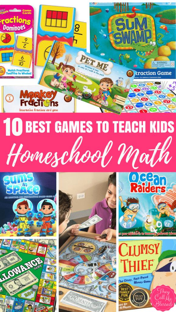 Homeschool Math Hack: 10 Amazing Games to Teach Kids Math