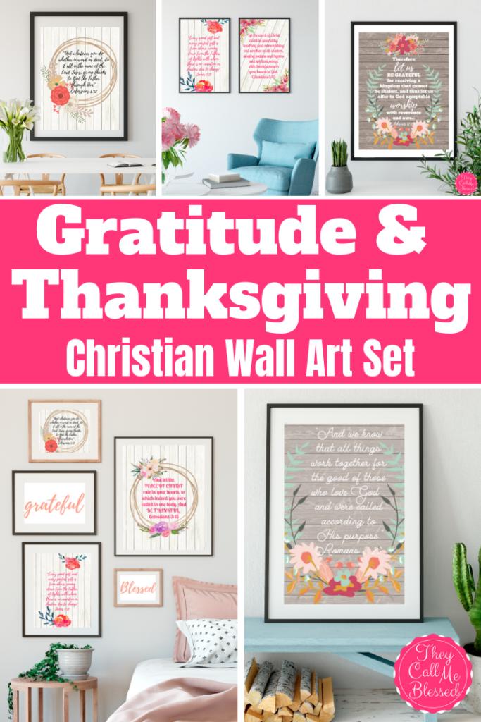 Gratitude & Thanksgiving Scripture Wall Art Set 1
