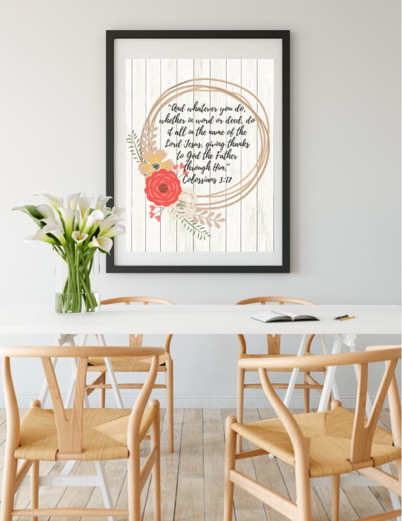 Gratitude & Thanksgiving Scripture Wall Arts Set 1