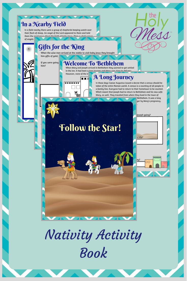 Nativity Workbook for Kids: Free Printable