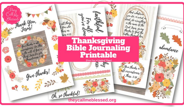 Free Thanksgiving Bible Journaling Printable