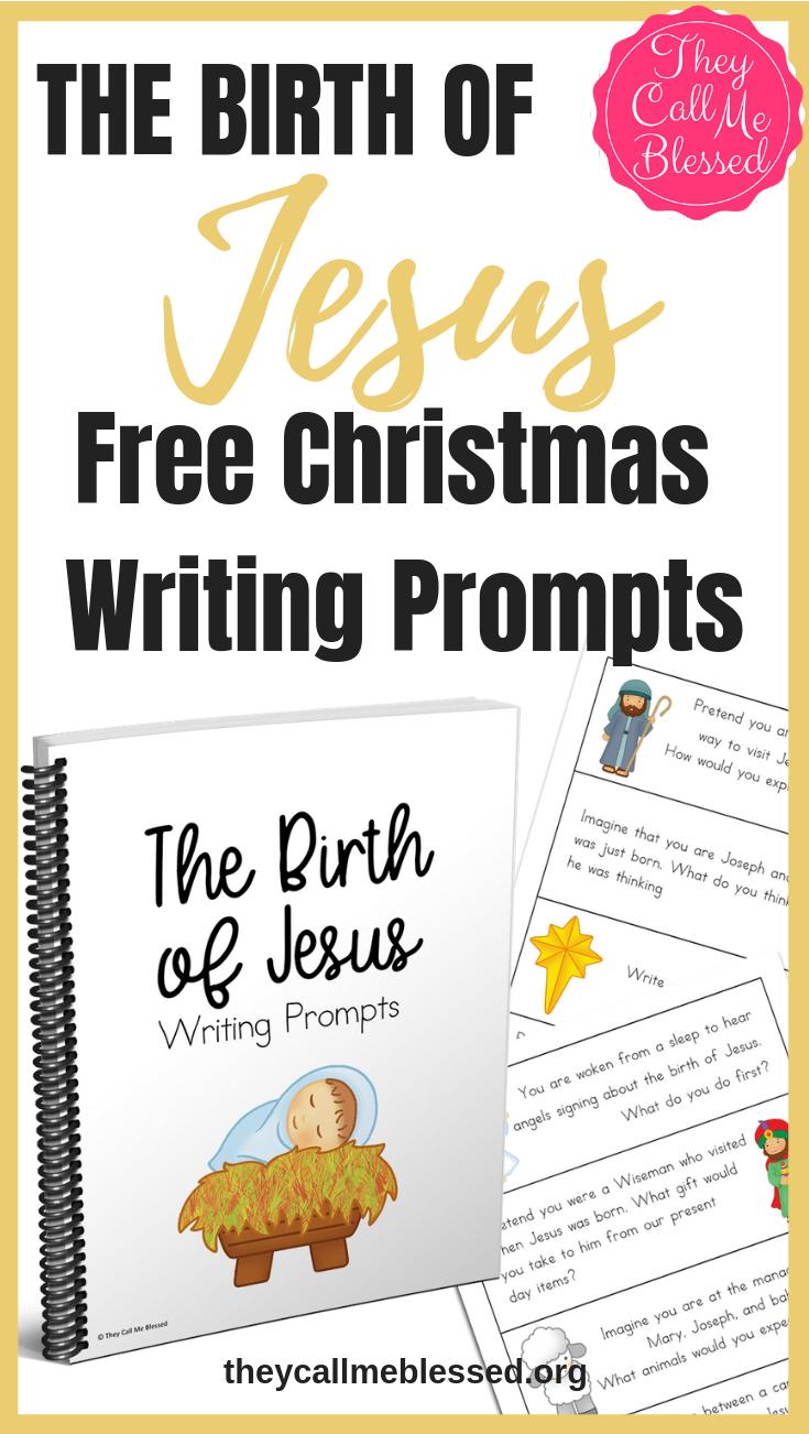 The Birth of Jesus Christmas Writing Prompts {FREE Printable}