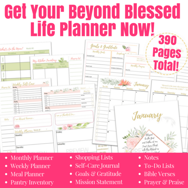 Beyond Blessed Life Planner | The All-In-One Christian Planner from They Call Me Blessed.