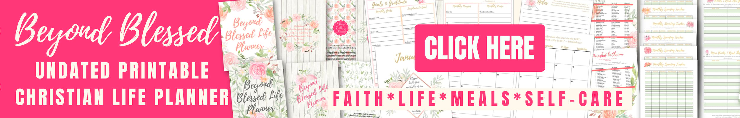 Undated Beyond Blessed Life Planner
