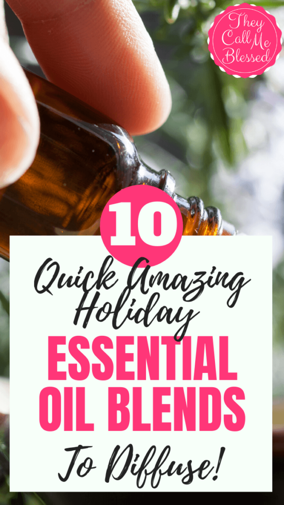 How To Make 10 Quick Amazing Holiday Essential Oil Blends To Diffuse. Super easy to make recipes I use to make my house smell amazing during the holidays!