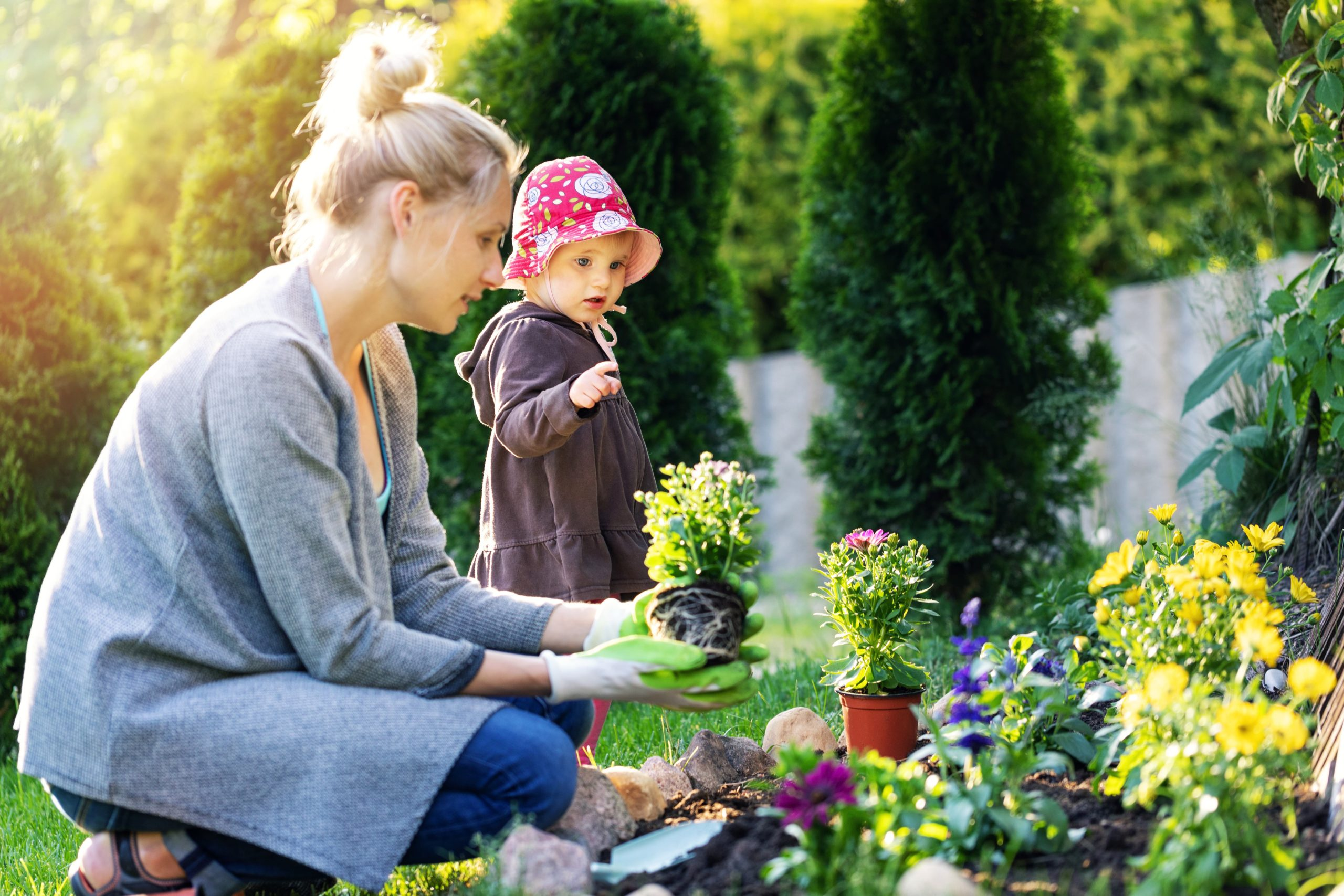 Gardening with small kids can be fun too!