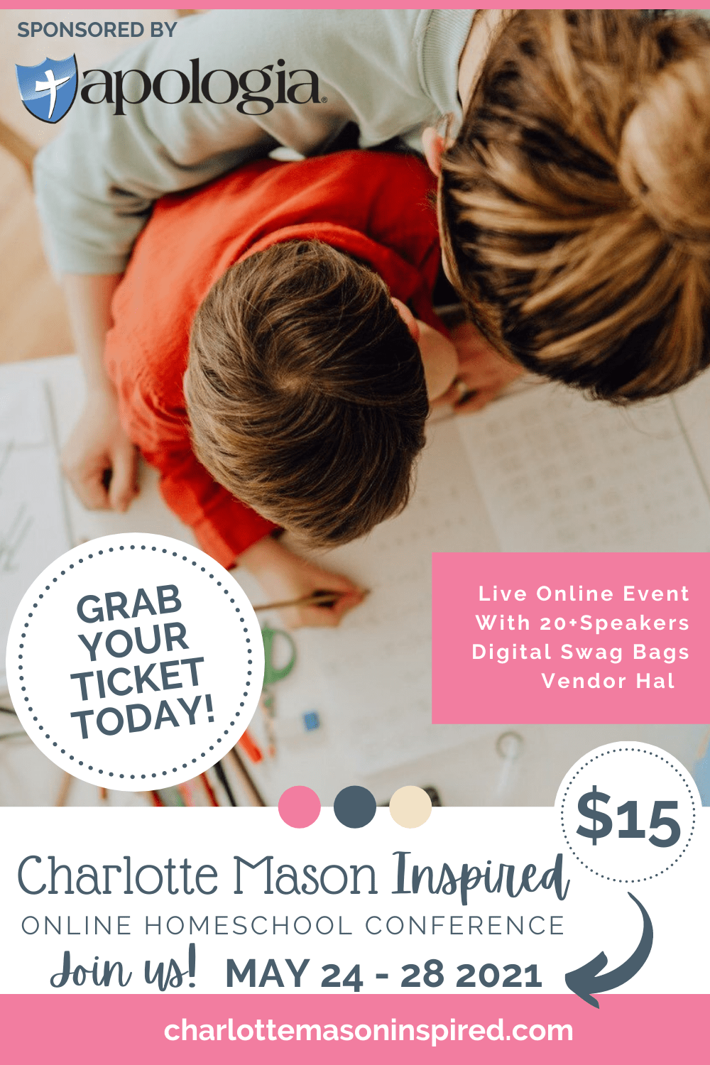 2021 Charlotte Mason Online Conference is here! May 24-28. Grab Your Ticket Now!